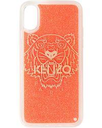 KENZO レッド グリッター Tiger Iphone X/xs ケース - マルチカラー