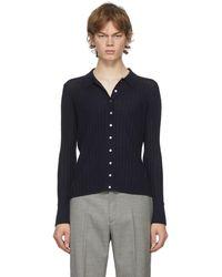 Dion Lee Navy Wool Shirt - Blue