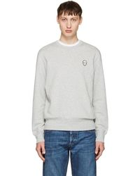 Alexander McQueen - Grey Bullion Skull Patch Sweatshirt - Lyst