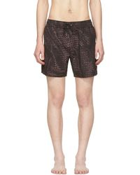 Bottega Veneta - Black Intrecciato Swim Shorts - Lyst