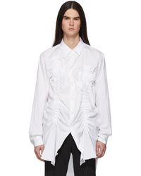 Comme des Garçons ホワイト Bunched-up シャツ