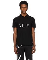 Valentino - ブラック Vltn ポロ - Lyst