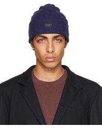 Rag & Bone Addison Beanie Wool Hat - Blue