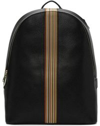 Paul Smith - Black Multi Stripe Rucksack - Lyst