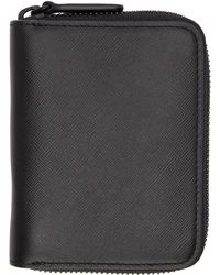 Common Projects - Black Saffiano Zip Wallet - Lyst