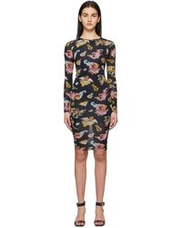 Versace Jeans Couture - ブラック Pattern ドレス - Lyst