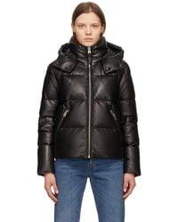 Mackage Down Leather Tory Jacket - Black