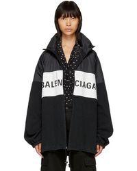 Balenciaga - Logo-print Denim Jacket - Lyst