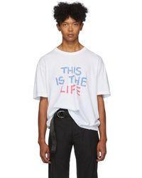 Visvim T-shirt blanc This Is The Life