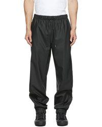 Rains Pantalon de survêtement noir à cordon coulissant