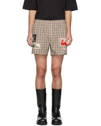 Raf Simons Off-white Patch Boxer Shorts - Multicolour