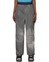 Off-White c/o Virgil Abloh Pantalon chinos gris Fence Extended - Noir
