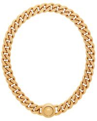 Versace - Collier dore Tribute - Lyst