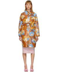Fendi マルチカラー コーティング コットン Daisy Garden コート