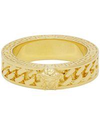 Versace Gold Chain Band Ring - Metallic
