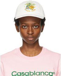 CASABLANCA オフホワイト Tennis Club キャップ - マルチカラー