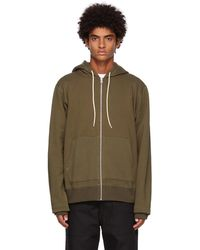 Naked & Famous French Terry Zip Hoodie - Green