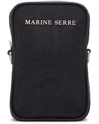 Marine Serre ブラック One Pocket Phonecase バッグ
