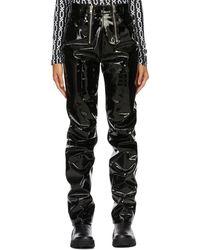 GmbH Black Vinyl Frey Pants