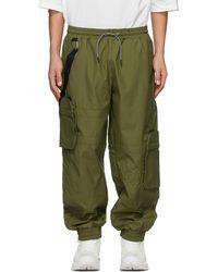 A.A.Spectrum光谱 Khaki Jersey Cargo Trousers - Green