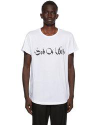 Ann Demeulemeester Ssense Exclusive God Of Wild Fine T-shirt - White