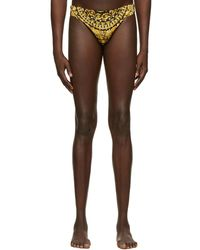 Versace Black Barocco Swim Briefs - Multicolour