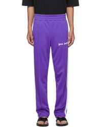 Palm Angels Pantalon de survetement mauve Classic - Violet