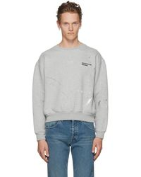 Enfants Riches Deprimes - Grey Paint Logo Sweatshirt - Lyst