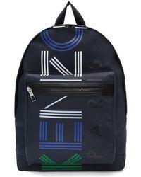 KENZO - Navy Logo Sport Backpack - Lyst
