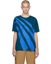 Issey Miyake T-shirt bleu Wrinkle