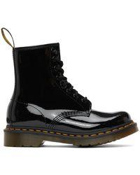 Dr. Martens ブラック パテント 1460 ブーツ