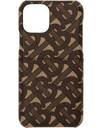 Burberry Etui pour iPhone 11 Pro brun Rufus Monogram - Noir