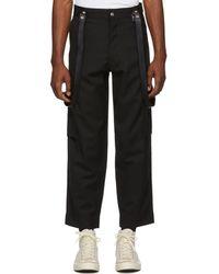 Enfants Riches Deprimes Black Cargo Suspenders Pants