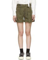 Proenza Schouler Khaki Slouchy Shorts - Green