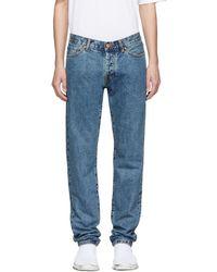 Han Kjobenhavn - Blue Tapered Jeans - Lyst