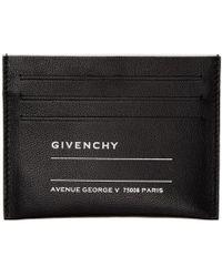 Givenchy Porte-cartes noir Iconic Print