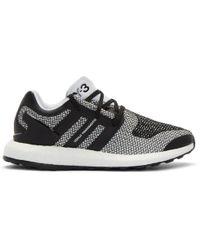 4c3e34de4 Y-3 - White   Black Pureboost Sneakers - Lyst