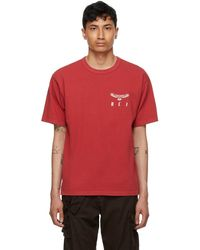 Reese Cooper T-shirt eagle wings rouge
