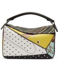 Loewe - Multicolor Paulas Ibiza Edition Patchwork Puzzle Bag - Lyst