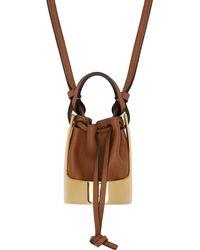 Loewe ブラウン & ゴールド Balloon Bag ネックレス - マルチカラー