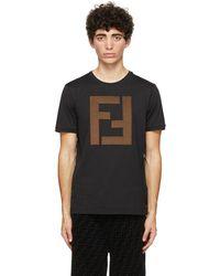 Fendi ブラック Ff T シャツ