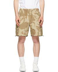 Moncler Camo Bermuda Shorts - Natural