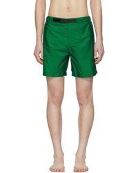 Prada - Green Nylon Swim Shorts - Lyst