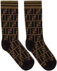 Fendi - Brown Forever Short Socks - Lyst