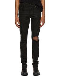 Amiri - Black Wax Broken Jeans - Lyst