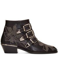 Chloé - 'susanna' Studded Velvet Ankle Boots - Lyst