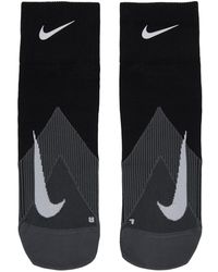 Nike Black Elite Lightweight Quarter Running Socks