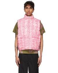 Marc Jacobs Print Puffer Vest - Pink