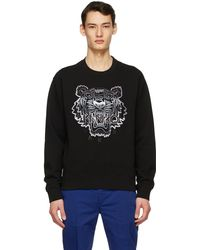 KENZO ブラック Tiger スウェットシャツ