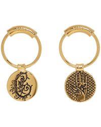 Chloé Gold Emoji Earrings - Metallic